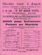 Pub Reclame In Den Gouden Sleutel Brugge Verkoop Schoenen - Publicidad