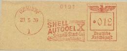 Nice Cut Meter SHELLAUTOOEL, Das Schnell-Start-Oel Dusseldorf 23/5/1939 - Scheikunde