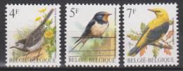 Belgique N° 2474 - 2476 *** Oiseaux-Buzin - Bergeronnette Grise - Hirondelle De Cheminée - Loriot - 1992 - 1985-.. Birds (Buzin)