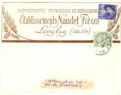 LGM FRANCE - PREO SEMEUSE  CAMEE 10c + TP BLANC 5c  SUR ENVELOPPE A EN TÊTE TARIF IMPRIMES DU 12/7/1937 - Vorausentwertungen