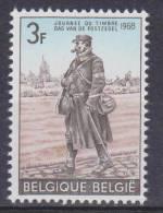Belgique N° 1445 ** Journée Du Timbre - Facteur Aux Armées - 1968 - Unused Stamps