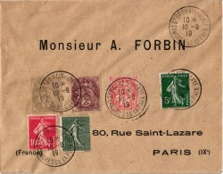 OBLITERATION 4 Envelopes + 3 Cpa 1918 FIN WWI  Grande Guerre END Versailles TRUCE Trève WERELDOORLOG  VREDE VOLKERENBOND - Postmark Collection (Covers)