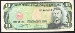 DOMINICAN REPUBLIC  P119c 10  PESOS ORO  1987   XF-AU - Dominikanische Rep.