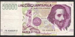 ITALY  P116c  50.000 LIRE  27.5.1992  Fazio / Amici  VF - 50000 Lire