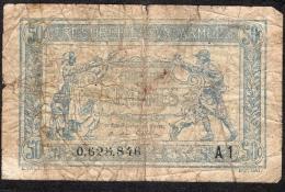 FRANCE TRESORERIE AUX ARMEES 50 CENTIMES A1   FINE - Treasury