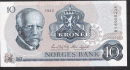 NORWAY  P36c  10  KRONER  1982    UNC. - Norvège