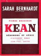 """1952 Théâtre SARAH BERNHARDT - """" KEAN"""" Ou Désordre Et Génie D´Alexandre Dumas - Pierre BRASSEUR - Programs"""