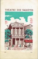 """1951 - Programme Théâtre Des Variétés - """"Une Folie"""" De Et Avec SACHA GUITRY, Lana MARCONI, Jacques MOREL, Sophie MALLET - Programs"""