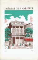 """1954 Programme Théâtre Des Variétés """"Frère Jacques"""" D´André GILLOIS  Avec Fernand GRAVEY, Gisèle PASCAL, René DORIN - Programs"""