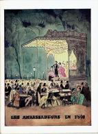 """1957 Programme Théâtre LES AMBASSADEURS -""""Deux Sur La Balançoire"""" Avec Jean MARAIS, Annie GIRARDOT - Programs"""