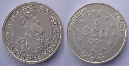 BELGIO 5 E 1987 ARGENTO TREATIES OF ROME CAROLUS PESO 22,85g TITOLO 0,833 CONSERVAZIONE FDC - Paesi Bassi