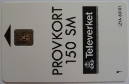 Sweden - Chip - Technician Card - Provkort 150 SM - 200ex - Televerket - Mint - Sweden