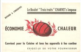 Buvard CHARVET Le Boulet Trois Traits CHARVET S'impose Economie Chaleur Convient Pour La Cuisine - Electricité & Gaz