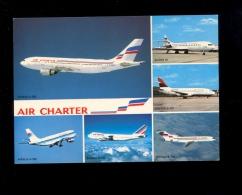 AVIATION : Avion Avions AIR CHARTER Filiale AIR FRANCE & INTER Airbus A300 BOEING 747 727 737 SUPER 10 Aircraft Flugzeug - 1946-....: Moderne