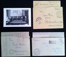 Lot 3 Briefe Feldpost Karl Wurm Stab Lager Natzweiler