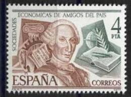 TIMBRE ESPAGNE NOUVEAU 1977 SOCIÉTÉS ÉCONOMIQUES D'AMIS D'EL PAÍS - PEINTURE MUSIQUE LITTÉRATURE - LIVRE  COMPAS - Arte