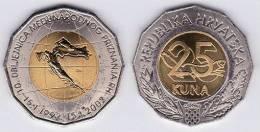 "CROACIA  25 KUNA 2001    BIMETALICA SC/UNC  KM#66 ""10 Years Of Independence""    T-DL-10.082 - Croacia"