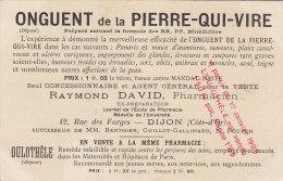 CARTE PUB  LA PIERRE QUI VIRE 89 YONNE MONASTERE SAINTE MARIE PUBLICITE ONGUENT OULOTHELE  DAVID PHARMACIEN A DIJON - France