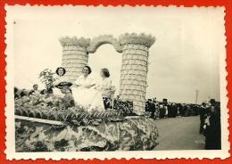 """PHOTO Photographie Amateur 41 OUZOUER-Le-MARCHE Comice Juillet 1951 """" Un Char - Orte"""