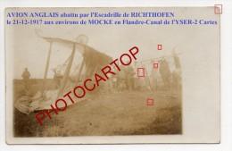 MOCKE-FLANDERN-JASTA RICHTHOFEN-Avion Anglais-2x Cp Photos Allemandes-Guerre 14-18-1 WK-Aviation-Fliegerei-Aircraft-Mili - Belgique