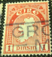 Ireland 1922 Map Of Ireland 1p - Used - 1922-37 Irish Free State