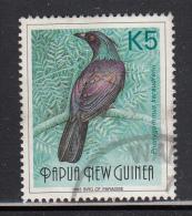 Papua New Guinea Used Scott #768 5k Bird Of Paradise - Birds - Papouasie-Nouvelle-Guinée