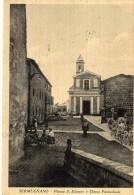 LAZIO-VITERBO-SERMUGNANO PIAZZA S.SILVESTRO CHIESA  ANIMATISSIMA - Altre Città