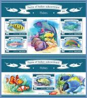 mld15304ab Maldives 2015 Fishes 2 s/s