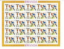 RWANDA  ARGENTINA 1978 COUPE DU MONDE DE FOOT BAL  -  PLANCHE ENTIERE DE 25 TIMBRES NEUF SANS TRACE DE CHARNIERES