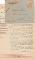 69 - Lyon - Revol & Wiederker - Agence Générale De Recouvrement De Créances (timbre Semeuse 158) - Frankreich