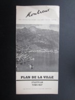 DéPLIANTS TOURISTIQUES (M1505) SUISSE - MONTREUX (4 Vues) Plan De La Ville - Dépliants Touristiques