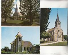 SAINTE GENEVIEVE DES BOIS 91 - L'Eglise - Petit Lot De 3 CPSM CPM GF N° 14 Essonne Toutes Scannées - Sainte Genevieve Des Bois