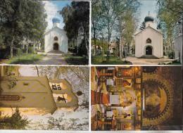 SAINTE GENEVIEVE DES BOIS 91 - Chapelle Orthodoxe Russe - Petit Lot De 4 CPSM CPM GF N° 16 - Essonne Toutes Scannées - Sainte Genevieve Des Bois