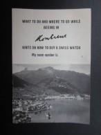 DéPLIANTS PUBLICITAIRE (M1505) SUISSE - MONTREUX (4 Vues) How To Buy A Swiss Watch - ROMAN MAYER Watch Maker - Dépliants Touristiques