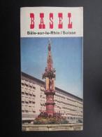 DéPLIANTS TOURISTIQUES (M1505) SUISSE - BASEL (4 Vues) Bâle-sur-le-rhin - Plans, Photos, Etc - Dépliants Touristiques