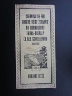 DéPLIANTS TOURISTIQUES (M1505) SUISSE - Chemin De Fer (3 Vues) BRIGUE, VIèGE, ZERMATT Du GORNERGRAT FURKA... 1954 - Dépliants Touristiques