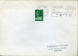 MONT DE MARSAN AIR LANDES 1975 Portes Ouvertes Base Aérienne Caserne Bosquet Parachute Aviation Armée De L´air - Poststempel (Briefe)