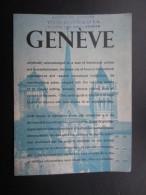 DéPLIANTS TOURISTIQUES (M1505) SUISSE - GENèVE(7 Vues) Carte De La Ville - PUB Montre ZODIAC - Dépliants Touristiques