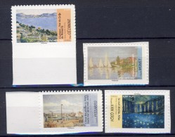4 Timbres AUTOADHESIFS N° 826a-828a-829a-835a ISSUS De FEUILLES - France