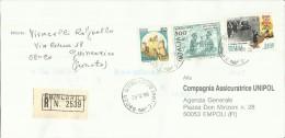 ITALIA REPUBBLICA LETTERA PUBBLICITARIA  29 - 12 - 1988 ROMA CITTA' APERTA +  NATALE RACCOMANDATA - 6. 1946-.. Repubblica