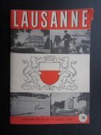 DéPLIANTS TOURISTIQUES (M1505) SUISSE LAUSANNE (2 Vues) Publicité Baume & Mercier, Etc Semaine Du 23 Au 29/07/1954 - Dépliants Touristiques