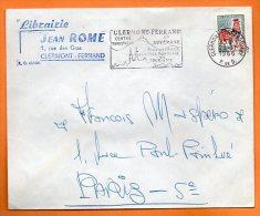 CLERMONT FERRAND    EN AUVERGNE  29 / 11 / 1966  Lettre Entière N° J 231 - Postmark Collection (Covers)