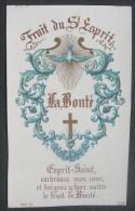 IMAGE PIEUSE Chromo Blot Fin XIXème : FRUIT DU SAINT ESPRIT - LA BONTE - ESPRIT SAINT  / HOLY CARD  SANTINI - Images Religieuses