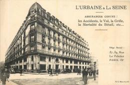 PUBLICITE URBAINE ET LA SEINE ASSURANCES RUE LE PELETIER PARIS IXe - Pubblicitari