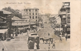 BOMBAY INDIA MOOMBADEVI ROAD N°348 EDIT. IN SAXONY PANORAMA RARISSIME TOP CARTE UNIQUE RARE GECKO - India