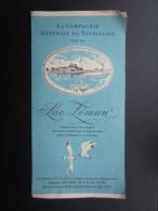 DéPLIANTS TOURISTIQUES (M1505) SUISSE LAC LéMAN (4 Vues) La Compagnie Générale De Navigation Sur Le Lac Léman - Dépliants Touristiques