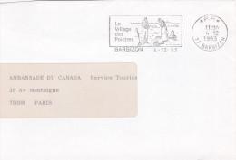 PORT PAYE PP - BARBIZON - 4 Décembre 1993 - Seine Et Marne - Maschinenstempel (Werbestempel)