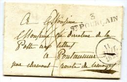 Allier - SAINT POURCAIN - Grande Marque Linéaire - 11 Juillet 1829 - 1801-1848: Precursors XIX