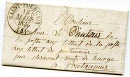 Allier - SAINT POURCAIN - 15 Mars 1835 - Aucune Autre Marque - 1801-1848: Precursors XIX
