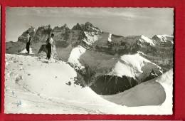 BXC-23  Morgins, Portes Du Soleil. Dents Du Midi, Skieurs Au Premier Plan. Circulé. Staudhammer 2502 - VS Valais
